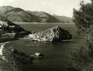 Italy Taormina Panorama Lido Mazzaro Old Photo 1961