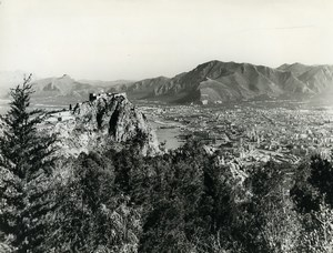 Italy Bay of Palermo Panorama Old Photo 1961