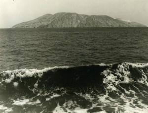 Italy Sicily Vulcano Island Old Photo 1961