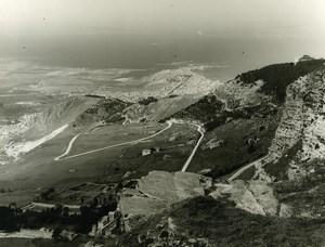 Italy Sicily Trapani Peninsula Panorama Old Photo 1961