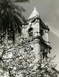Italy Sicily Trapani Church Old Photo 1961