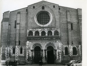France Toulouse Basilique Saint Sernin Basilica West Old Photo 1960