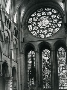 France Laon Cathedral Interior Old Photo 1960