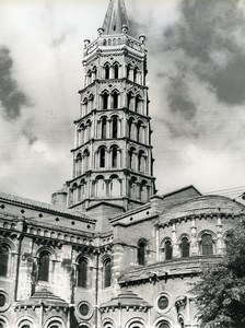 France Toulouse Basilique Saint Sernin Basilica Old Photo 1960