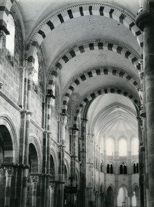 France Vézelay Abbey Basilica Interior Old Photo 1960