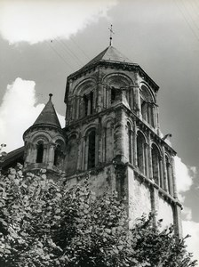 France Poitiers Église Sainte Radegonde Church Old Photo 1960