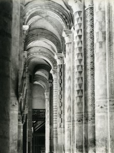 France Poitiers eglise Notre Dame la Grande Church Columns Old Photo 1960