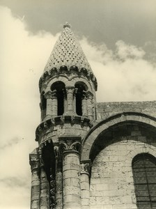 France Poitiers eglise Notre Dame la Grande Church Old Photo 1960