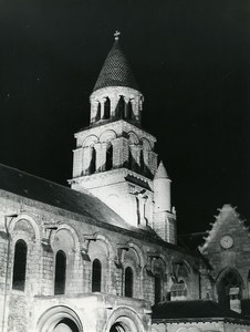 France Poitiers eglise Notre Dame la Grande Church Bell Tower Old Photo 1960