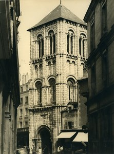 France Poitiers Eglise Sainte Porchaire Church Old Photo 1960