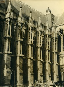 France Cathedrale de Reims Cathedral Old Photo 1960