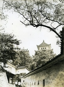 Japan Himeji Castle Chateau Old Photo 1960