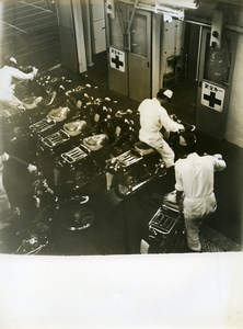 Japan Tokyo? Factory Interior Motorcyle Old Photo 1960
