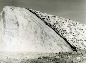 France Salt extraction Mound Old Photo 1960