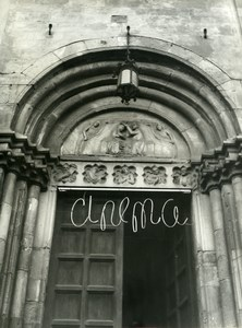 France Church transformed into Cinema Old Photo 1960