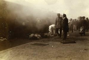 Chine Pékin Beijing Gare attentat contre les Princes Chinois ancienne Photo 1906
