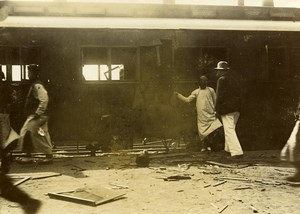 China Beijing Railway Station Attack against the Chinese Princes Old Photo 1906