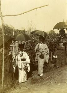 Chine Pékin Beijing pique-nique sur le Canal Impérial ancienne Photo 1906 #4