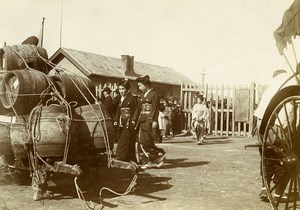 Chine Tianjin Tien-Tsin l'arrivée du Genéral Prince Japonais Fushimi Sadanaru ancienne Photo 1906