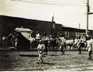 China Tianjin Tientsin busy street Old Photo 1906