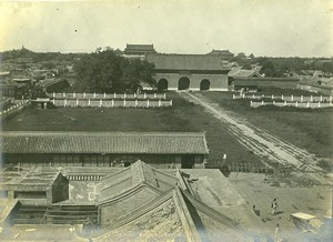 China Beijing the Forbidden City taken from Chien Men Old Photo 1906