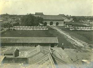 Chine Pékin Beijing la Cité Interdite prise de Chien Men ancienne Photo 1906