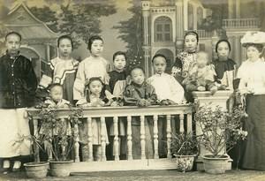 Chine Tianjin Tien-Tsin Famille du Prefet de Tien Tsin ancienne Photo 1906