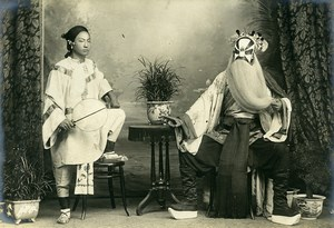 Chine Tianjin Tien-Tsin Acteurs Chinois ancienne Photo 1906