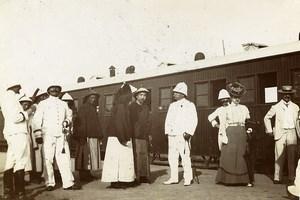 Chine Shanhaiguan Adieux des Mandarins au General Lefevre ancienne Photo 1906