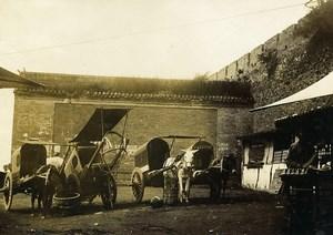 Chine Shanhaiguan une rue animée Carrioles Chevaux ancienne Photo 1906