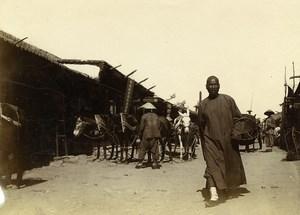 Chine Shanhaiguan une rue animée Commerces ancienne Photo 1906