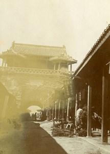Chine Shanhaiguan une rue animée Magasins Porte de la Ville ancienne Photo 1906