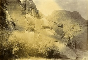 Chine Shanhaiguan Expedition à la Pagode de la Grotte Rochers ancienne Photo 1906