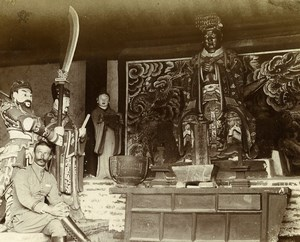 Chine Shanhaiguan Expedition à la Pagode de la Grotte ancienne Photo 1906