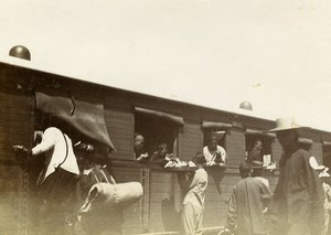 China Tianjin Tanggu Railway Train Station Tanggu Tong Kou Gare Old Photo 1906