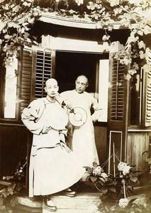 Chine Tianjin Tien-Tsin Tientsin Deux Acheteurs Sérieux Comprador ancienne Photo 1906