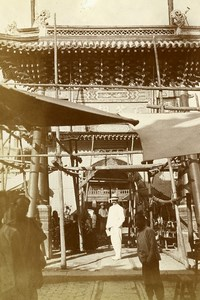 China Tianjin Tientsin Bernard Loup in busy Shopping Street Old Photo 1906