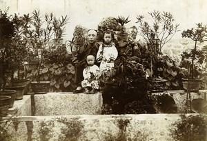 Chine Tianjin Tien-Tsin Tientsin mon ami Li Fu et ses Enfants ancienne Photo 1906