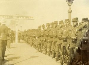Chine Tianjin Tien-Tsin Militaires Français Compagnie d'Honneur à la Gare ancienne Photo 1906