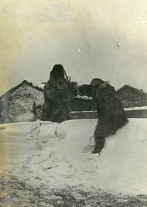 Chine Tianjin Tien-Tsin Tientsin les chasseurs dans la neige ancienne Photo 1906