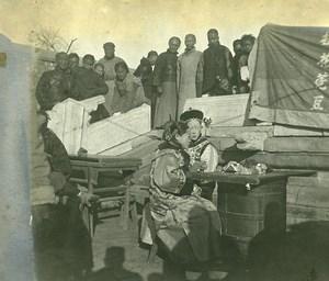 Chine Pékin Beijing une Foire Marche à Louny Fousse ancienne Photo 1906