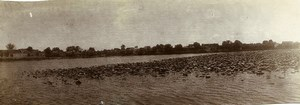 Chine Nanchang Lac et Temple de Pei Kwa Thou ancienne Photo Panorama 1906