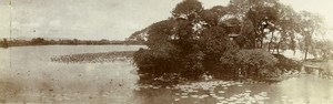 Chine Nanchang Lac et Temple du Pei Kwa Chow ancienne Photo Panorama 1906