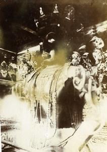 Chine Pékin Beijing la statue de Fo au temple des Lamas Bouddhisme tibétain ancienne Photo 1906