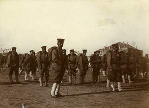 China Tianjin Tientsin Japanese Soldiers Group Old Photo 1906