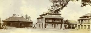 Chine Pékin Beijing la caserne française Militaire ancienne Photo 1906