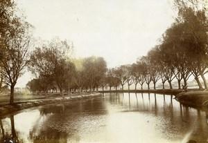 Chine Pékin Beijing la plaine aux hautes eaux Riviere ancienne Photo 1906