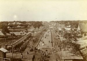 Chine Pékin Beijing Rue Hatamen panorama Chongwenmen Hadamen ancienne Photo 1906