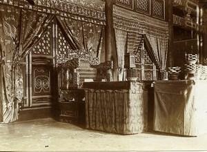 Chine Pékin Beijing interieur de magasin ? Ancienne Photo 1906