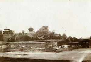 Chine Pékin Beijing Parc Jingshan la colline du Charbon ancienne Photo 1906